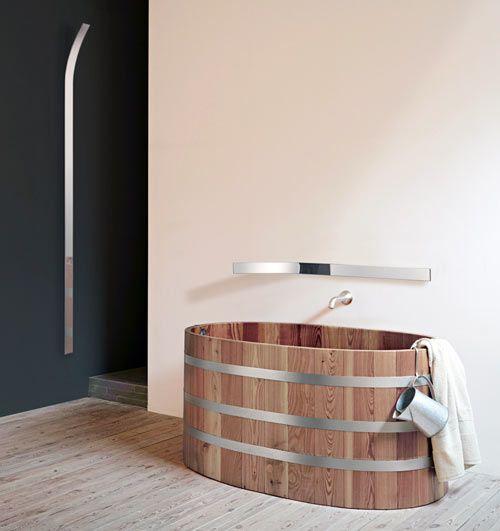 Designed by Bart Lens: Narrow Mirror, Bath Tubs, Bathtubs, Lens Photos, Eye Mirror, Badkam Bathroom, Lens Thoughts, Wooden Tubs, Eye Levels