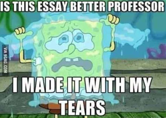 """story of my life. also, """"do i get extra credit for tear stains on my test?"""""""