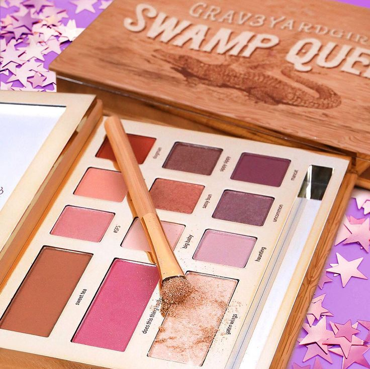 Our limited-edition grav3yardgirl swamp queen palette comes with 9 eyeshadows, a universal bronzer, blush AND highlighter! #tartecosmetics