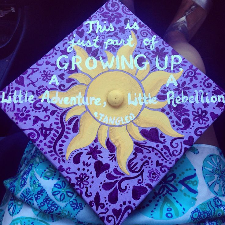 Tangled Grad cap                                                                                                                                                                                 More