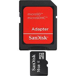 Cartão De Memória 16Gb Micro Sd + Adaptador SD