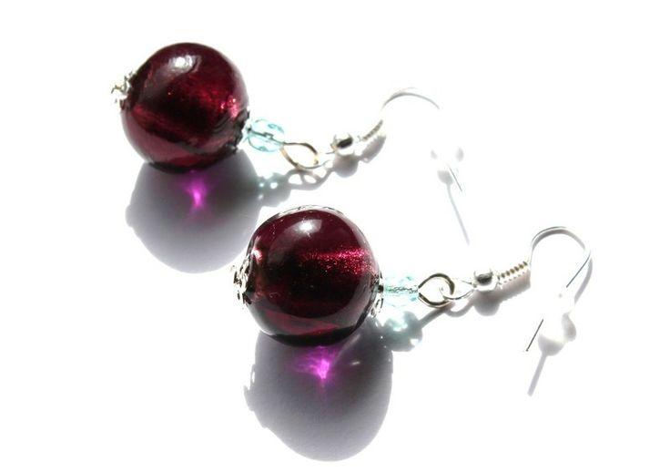 Kolczyki ze szkła weneckiego i kryształków w Especially for You! na http://pl.dawanda.com/shop/slicznieilirycznie  #kolczyki #earrings  #handmade #DaWanda #crystals #kryształki #glass #szkło