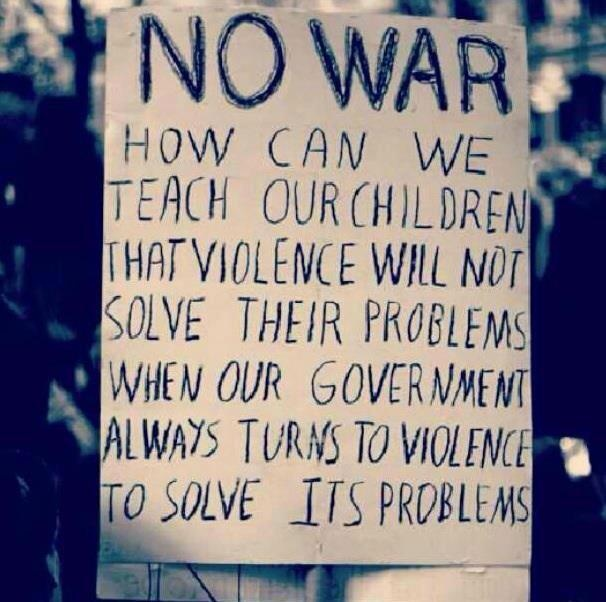 Can war solve problems
