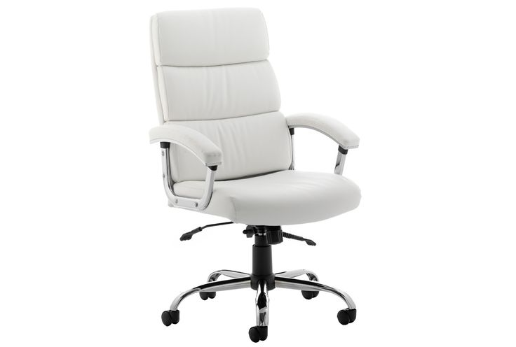 Crave high back white leather faced executive chair - Executive leather office chairs - Office Chairs  - Furniture at Work™