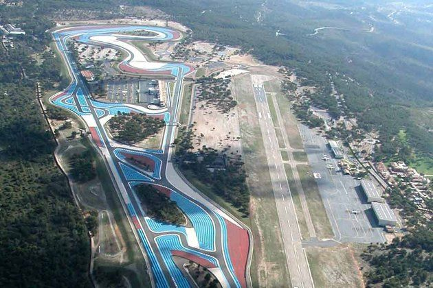 Circuit du Castellet, France Aerial view, Race courses
