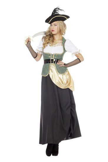 Kostuum Piraat Lang Dames - De Kaborij