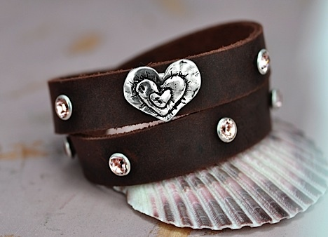 Island Cowgirl--Triple Heart-Cowgirl Bling Bracelet...Have I mentioned that I absolutely love Heather's jewelry?