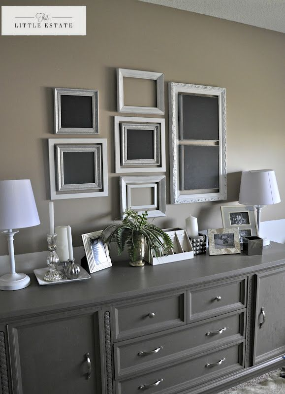 Really like the double hung frames and the blackboard frames on each end & center.
