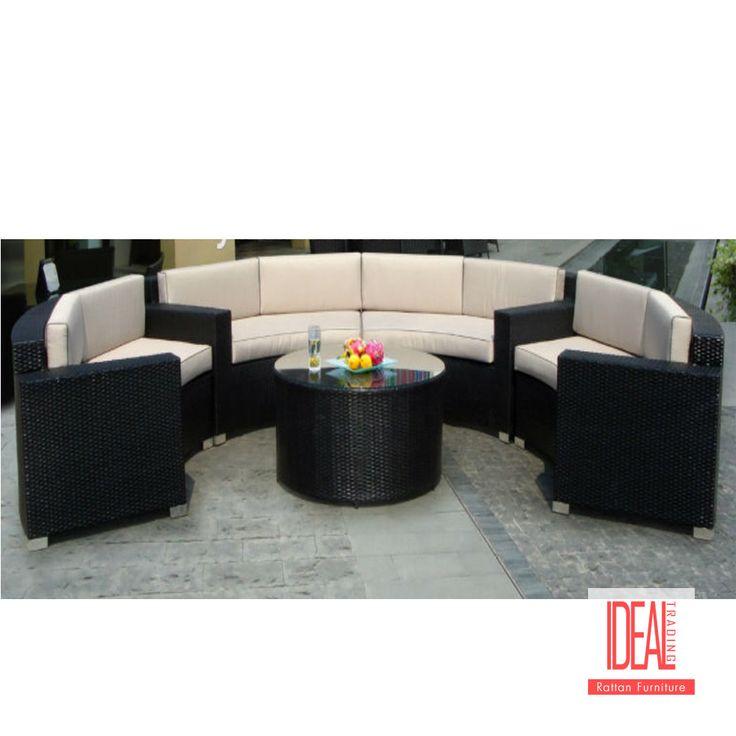 Hotel de alta calidad de china de lujo patio formas de ocio mesa y modernos sofás de mimbre al aire libre muebles de cristal redondo