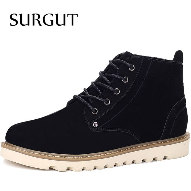 We love it and we know you also love it as well SURGUT Brand 2017 Spring Men Boots Popular Cow Suede Winter Boots For Men Fashion Footwear Ankle Boots Casual Winter Mens Shoes just only $38.71 with free shipping worldwide  #menshoes Plese click on picture to see our special price for you