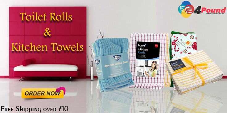 Buy Toilet Rolls & Kitchen Towels Only at #4pound store.