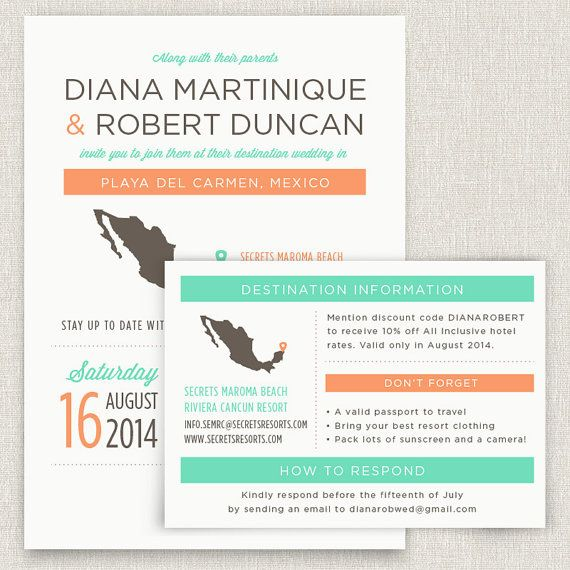 Locale  Modern destination wedding invitation by papertalkpress, $4.00