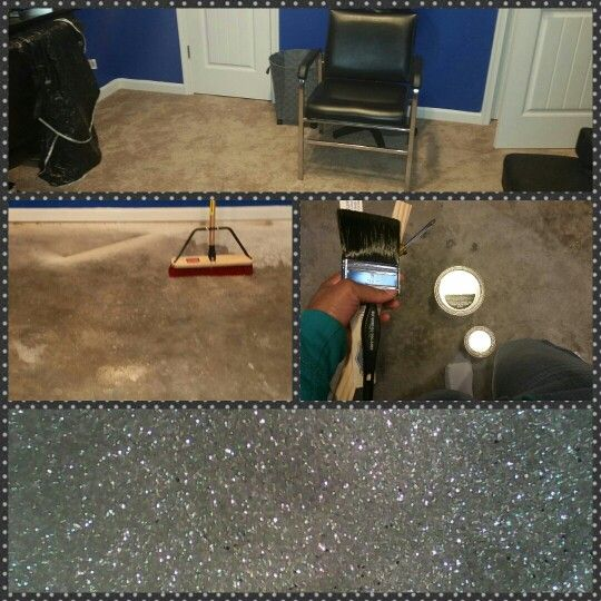 Outer Space Epoxy Glitter Floor DIY