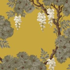 Papier peint - Cole and Son - WISTERIA - Jaune