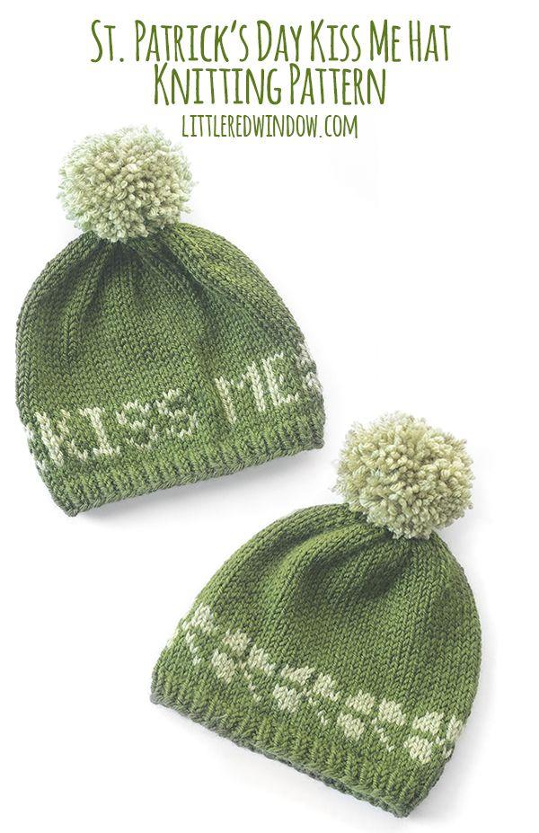 b0ce282c3 St. Patrick s Day Kiss Me Hat Knitting Pattern
