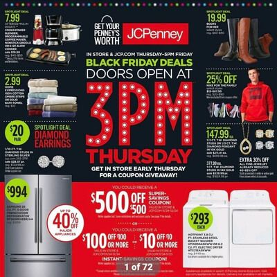 View the JCPenney Black Friday 2016 Ad with JCPenney deals and sales