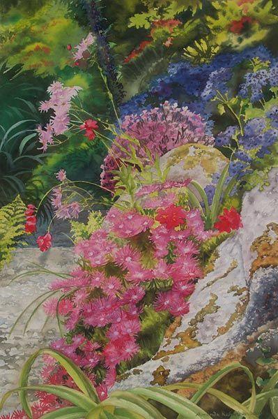 detail of Tresco Abbey Garden 1 by Amanda Richardson - click to return