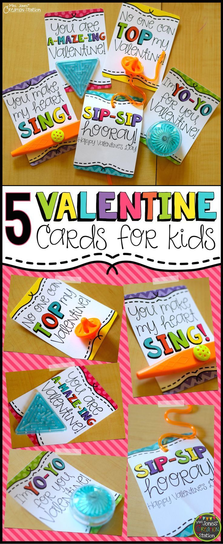 5 Valentine's Day Cards for Kids | FREE Valentine Cards to print - perfect for kids!