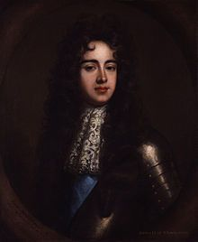 James Scott, Duke of Monmouth (1649 - 1685). Son of King Charles II and Lucy Walter. He married Anne Scott and had eight children. In his father's reign he spread rumors that his parents had been married, and that he was the rightful heir to the throne. He father banished him but during the reign of James II he tried to overthrow the king and was executed.