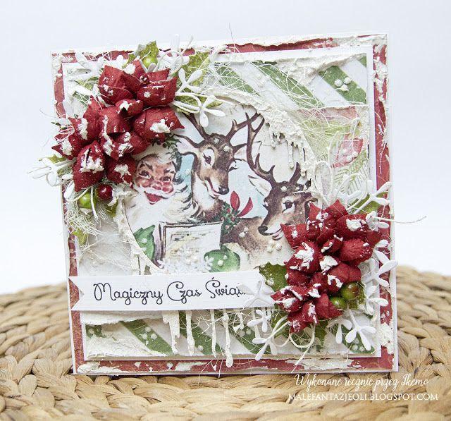 Blog Craft Passion: Świąteczna kartka / Christmas card