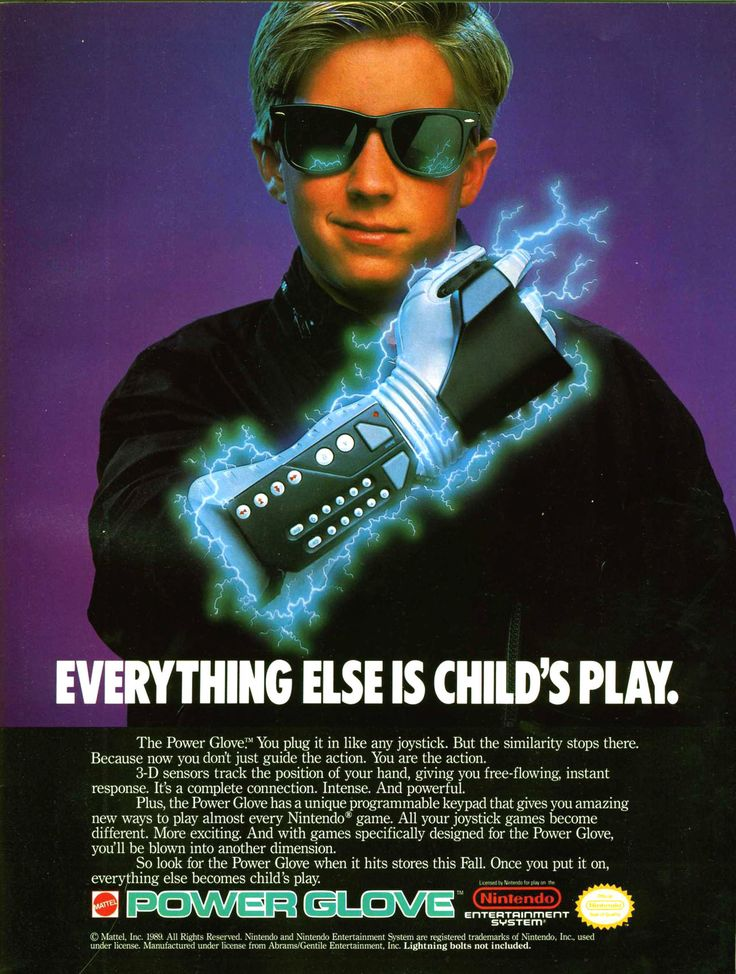 """oldgamemags: """" The Power Glove! It's so… bad. [Follow Old Game Mags] [Support us on Patreon] """""""