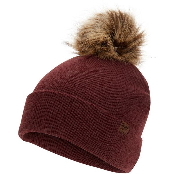 Women's Keds Faux Fur Pom Pom Beanie (83 BRL) ❤ liked on Polyvore featuring accessories, hats, red overfl, faux fur beanie hat, keds, red beanie, pom pom beanie hat and red hat
