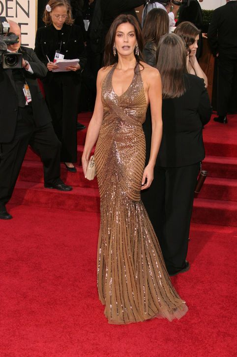 The Best Golden Globes Dresses of All Time: Glamour.comBest Golden Globes Dress: Teri Hatcher in Versace, 2006 Best Actress in a Comedy or Musical Series nominee Teri Hatcher chose a figure-hugging Versace gown for the 2006 Golden Globe Awards.