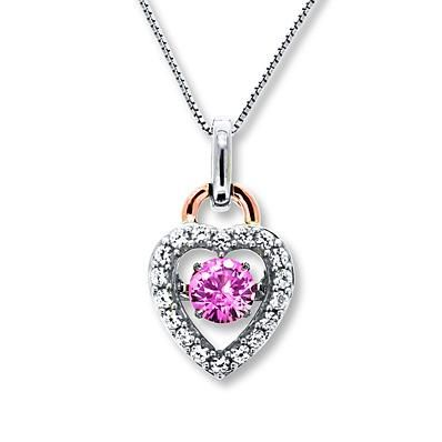 She can keep your heart close with this beautiful pink Colors in Rhythm necklace.