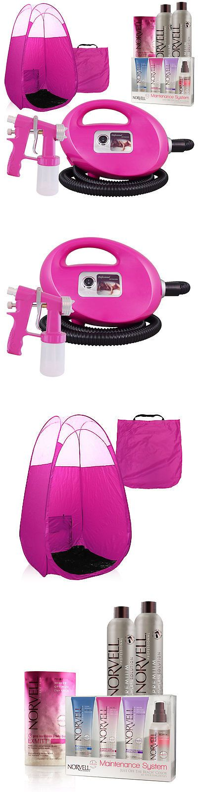 Sunless Tanning Products: Pink Fascination Spray Tanning Machine, Pink Tent, Tanning Solution, Sunless Kit -> BUY IT NOW ONLY: $189 on eBay!