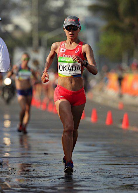 〔五輪・陸上〕女子20キロ競歩でゴールを目指す岡田久美子=19日、リオデジャネイロ #陸上 #リオ五輪 #オリンピック