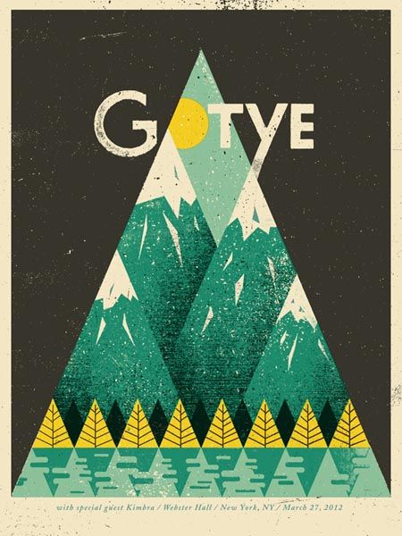 Gotye - Gig Poster Illustration and design studio Doe Eyed created the amazing gig poster for Gotyes  show in the Webster Hall, New York.