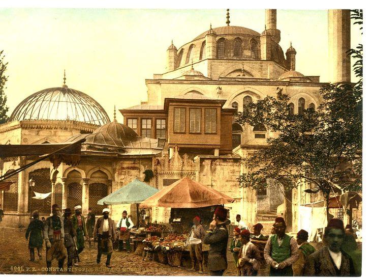 Turquie, Constantinople, Scutari mosquée et rue     #Orient #Turquie_Türkiye