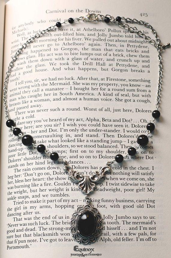 Dark Soul  Gothic Necklace  Victorian Necklace  by VictoriaEquinox