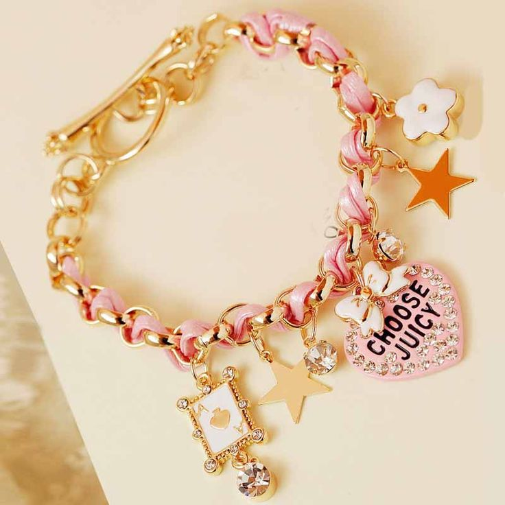 Sweet Delicate Pink Heart-shaped Design Lady's Bracelet #dresswereviews #dresswebracelets
