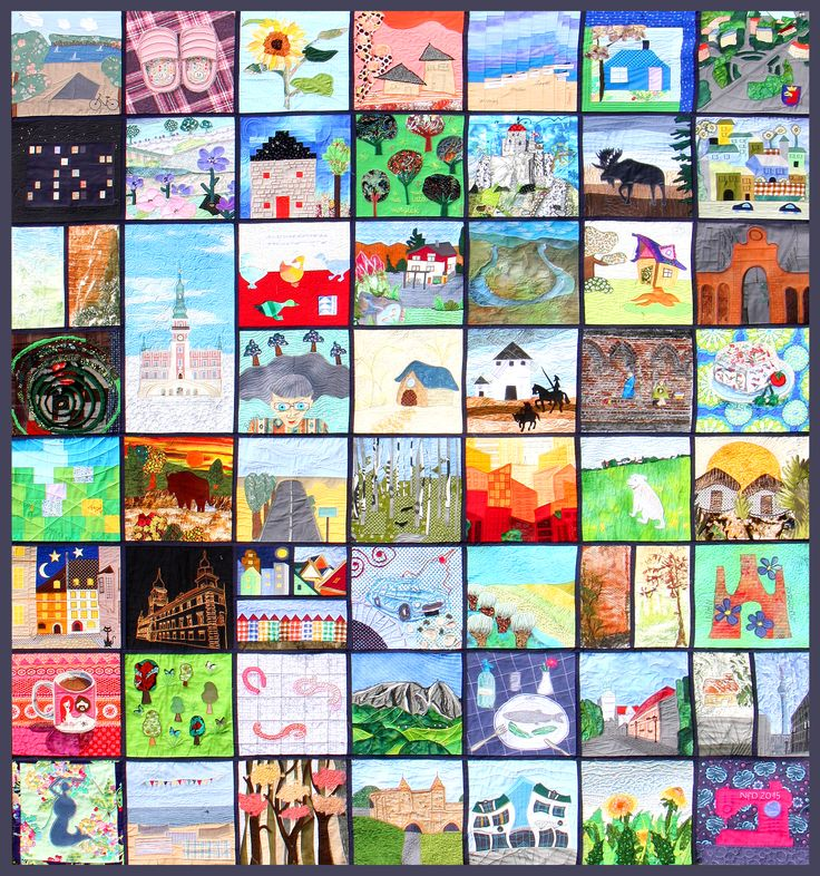 This magnificent work was sewn by 32 Polish quilters... for me! I am sooooooooooo happy! There are Polish elements specific for the places of residence or birthplaces, associations about Polish everyday life, personal details, even pieces of MY life! There were used many textile and quilting techniques and not so many common patchwork fabrics.  It is beautiful, interesting, perfect! Thank all of you so much, my Friends!!!