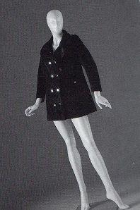 Cinzia Ruggeri -Giaccone di panno nero - Collezione Balduzzi
