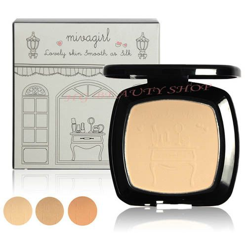Mivagirl Powder Cake Lovely Skin Smooth As Silk Face Contouring Fix Powder Foundation Maquillaje