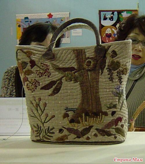 Текстильная сумка с аппликацией. Мастер-класс. - Лоскутное Шитьё - Страна Мам