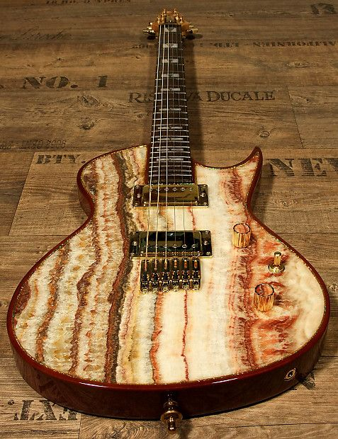 Special Deal on Reverb - Zerberus Chronos with real Onyx Fantastico Gemstone top !