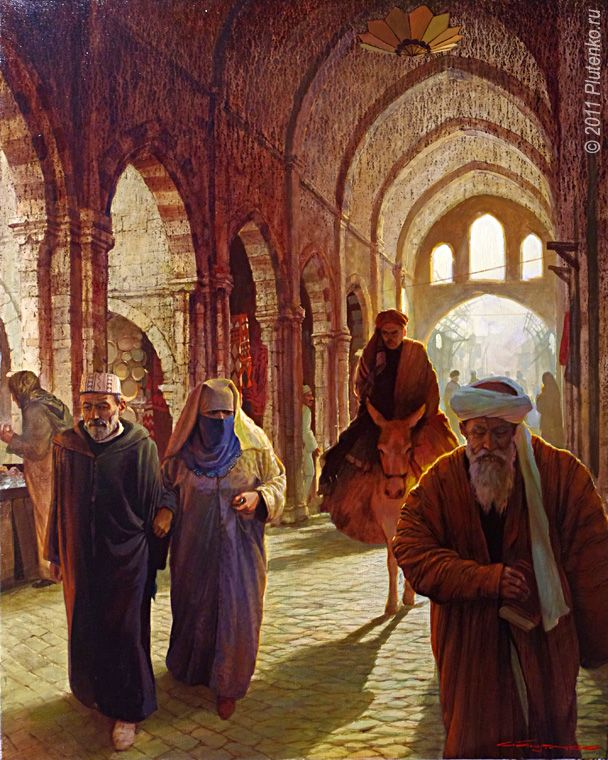 Stanislav Plutenko, The market in medina 2011- fancy of the artist