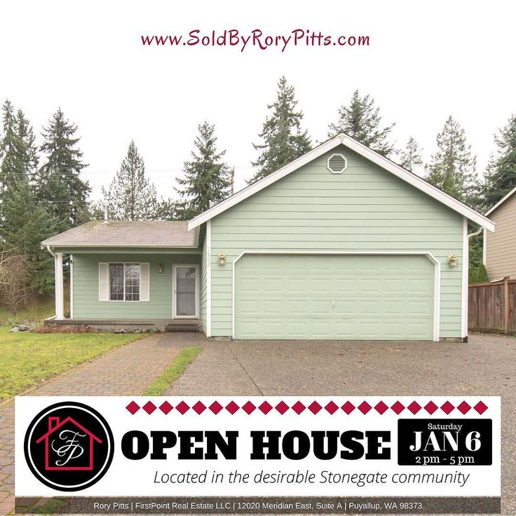 Who wants to come to an open house THIS Saturday?! Stop on by and check out this wonderful 3 bd 2 bath rambler in Puyallup. Seeing the open concept front room with a gas fireplace alone is worth the price of admission--which by the way is FREE! Spacious 2-car garage separate laundry room and a beautiful patio area makes this home a MUST SEE on a Saturday. Looking forward to seeing you tomorrow! Open House: 1822 22nd Ave SE Puyallup WA 98372 Saturday Jan 6th 2:00pm - 5 pm. . . . #openhouse…