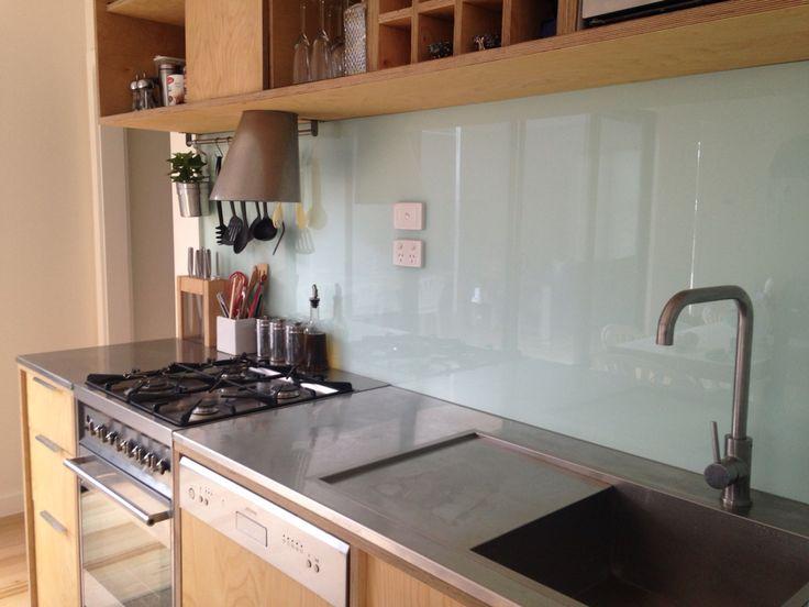 Splash back ~ scandi kitchen design.