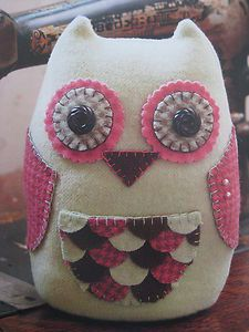 Owl Quilt Pattern | Quilt Pattern - OLIVER THE OWL PINCUSHION (additional patterns SHIP ...