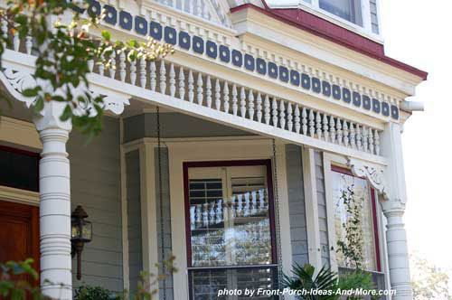 DIY:: Exterior house trim ideas & options- (use exterior house trim on your front porch to create charm and curb appeal ) !