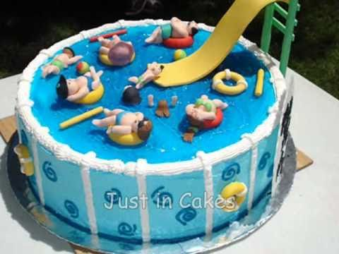 Swimming Pool Cake Ideas coolest swimming pool cake for mamaw made by grandkids Swimming Pool Cake Adorable Love This Cake Idea Hopefully The Baker Can Get