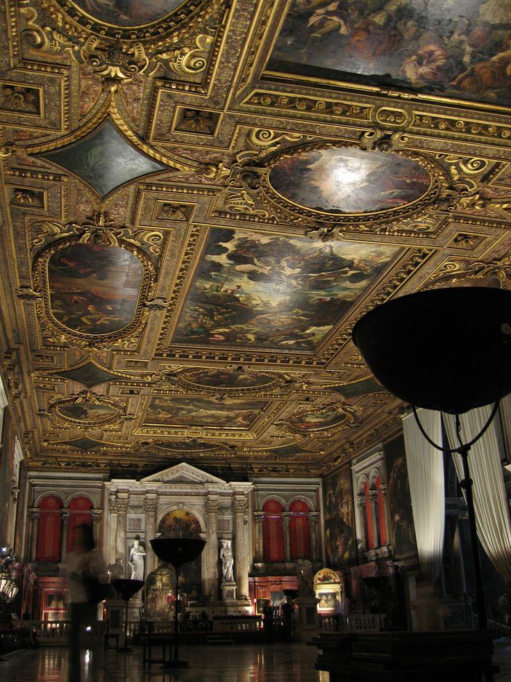 Tintoretto's Ceiling decorates the ceiling of the Sala Superiore on the upper floor of the Scuola Grande di San Rocco in Venice, Italy.
