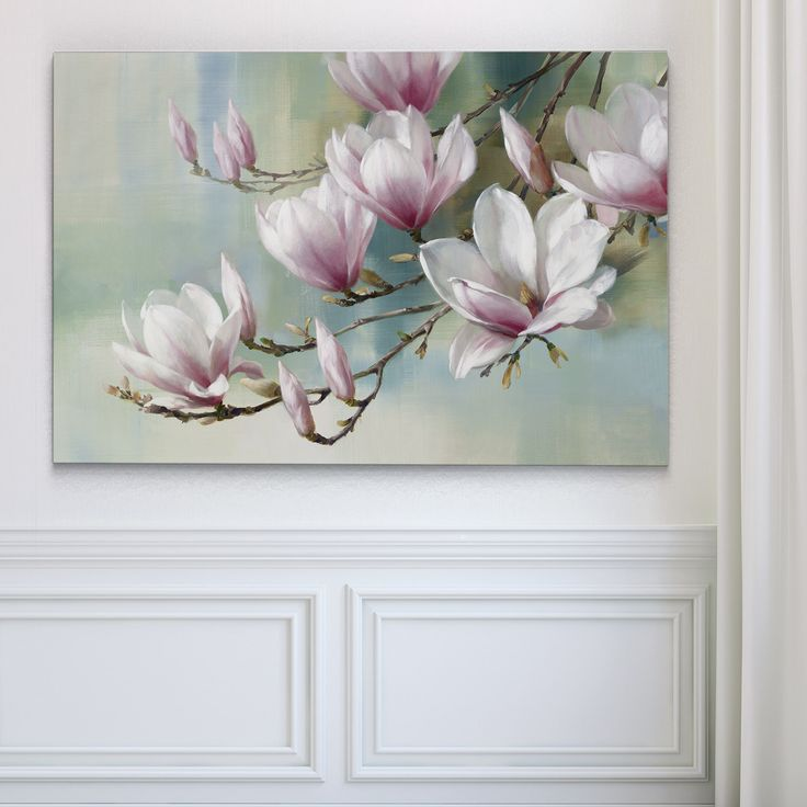 Magnolia Morning   Overstock.com Shopping – The Best Deals on Gallery Wrapped Canvas – Art Exhibition ❤️