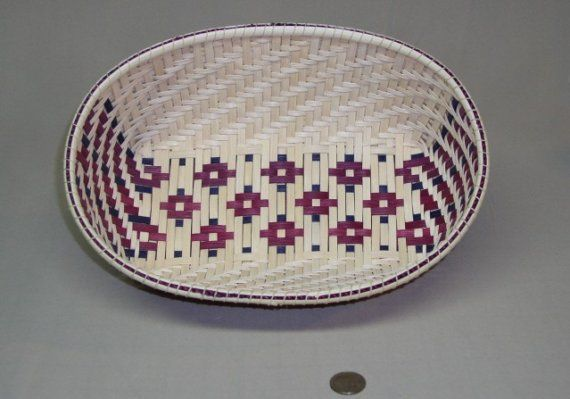 StarsoftheSouth Design Oval Woven Basket Hand by DiannesBaskets