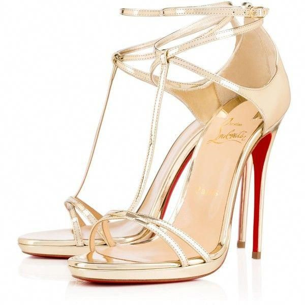 huge selection of c3cd1 6a835 CHRISTIAN LOUBOUTIN Benedetta 120Mm Light Gold Leather ($945 ...