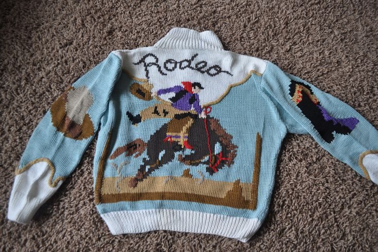 Vintage Hand Knit Sweater Berek Rodeo Wester Style Made in Uruguay by drowsySwords on Etsy